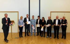All the Humorous Speakers with their participation certificates from Mark.